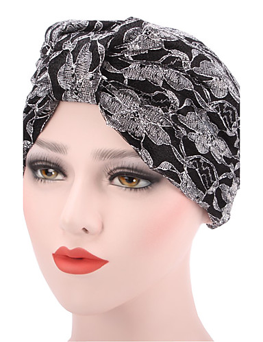 Női Kollázs Virágos Pamut, Kalap - Széles karimájú kalap