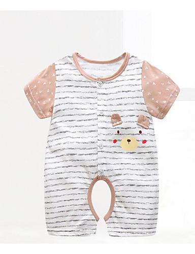 Baby Kinder Einzelteil Streifen Baumwolle Sommer Blau Braun