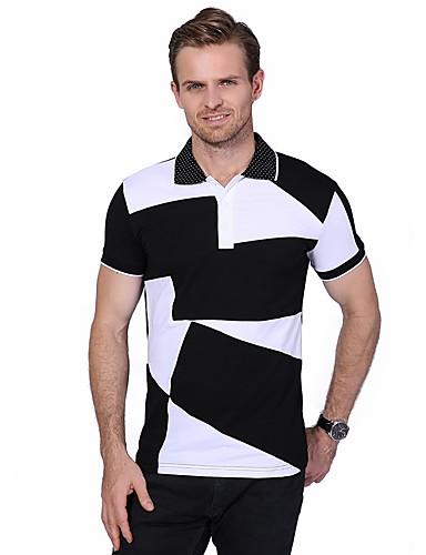 938c029de7 Homens Tamanhos Grandes Polo Estampa Colorida Algodão Colarinho de Camisa   Manga  Curta