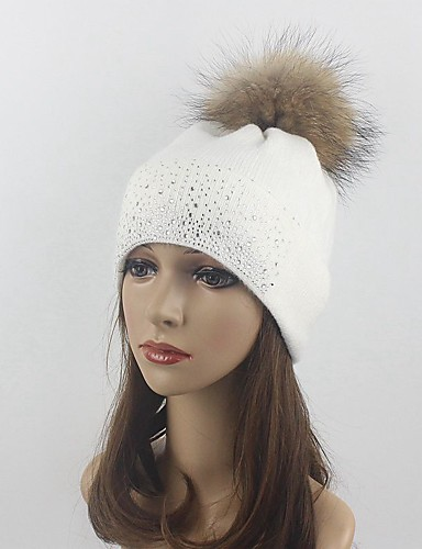 Women's Hat Wool Floppy Hat Ski Hat - Solid Colored Pure Color