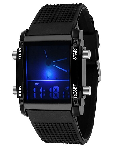 Men's Sport Watch Military Watch Digital Watch Quartz 30 m Water Resistant / Water Proof Calendar / date / day Chronograph Silicone Rubber Band Analog-Digital Charm Vintage Casual Black / White -