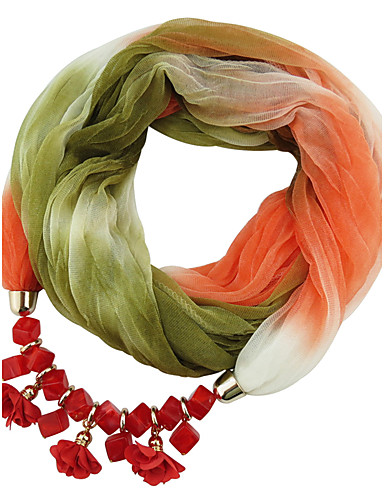 Women's Classic & Timeless Infinity Scarf - Color Block, Modern Style