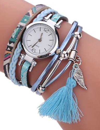 b3d1d8f3c386 Mujer Reloj Pulsera Simulado Diamante Reloj Reloj de diamantes Cuarzo Cuero  Sintético Acolchado Negro   Blanco   Azul La imitación de diamante  Analógico ...
