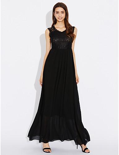 d91636dd81e6 Γυναικεία Εξόδου Κινεζικό στυλ Βαμβάκι Γραμμή Α   Φαρδιά Φόρεμα -  Μονόχρωμο