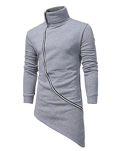 Męskie Rozmiar plus Długi rękaw Długi Bluzy - Jendolity kolor Golf