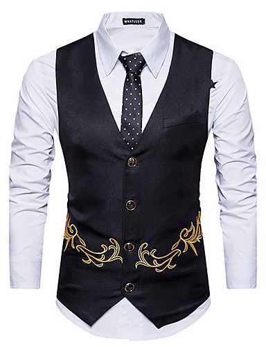 Men's Slim Vest Print / Sleeveless