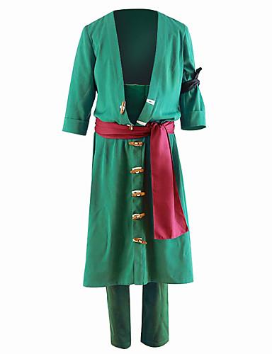 povoljno Anime kostimi-Inspirirana One Piece Roronoa Zoro Anime Cosplay nošnje Japanski Cosplay Suits Jednobojni Kaput / Hlače Za Muškarci