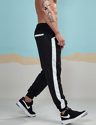 Męskie Sportowy Aktywny Spodnie dresowe Typu Chino Spodnie Prążki