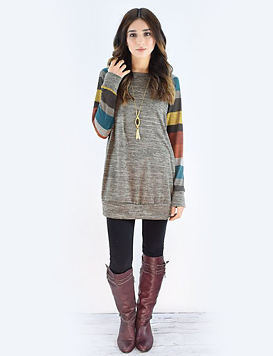 Women's Holiday Street chic Cotton T-shirt - Color Block