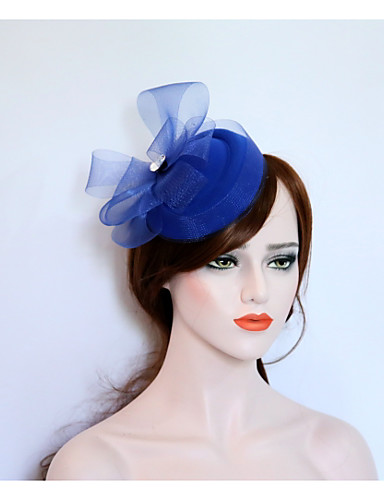 abordables Chapeau & coiffure-Molleton / Filet Fascinators / Chapeaux avec 1 Mariage / Fête / Soirée Casque