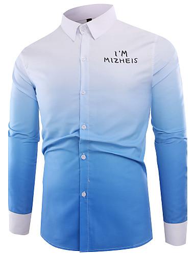 Men's Cotton Shirt - Color Block