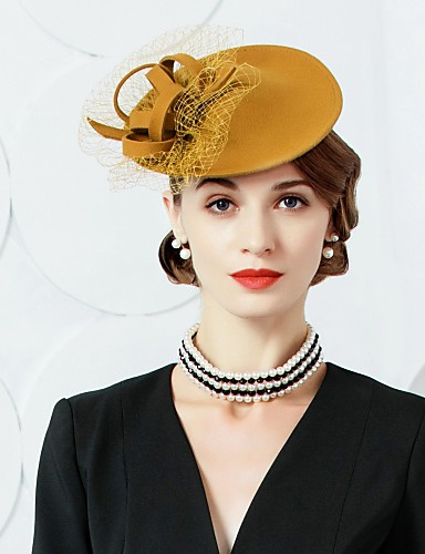 billige Hatte & Imponeringer-Ull / Tyll Kentucky Derby Hat / fascinators / Hatter med 1 Bryllup / Fest / aften Hodeplagg