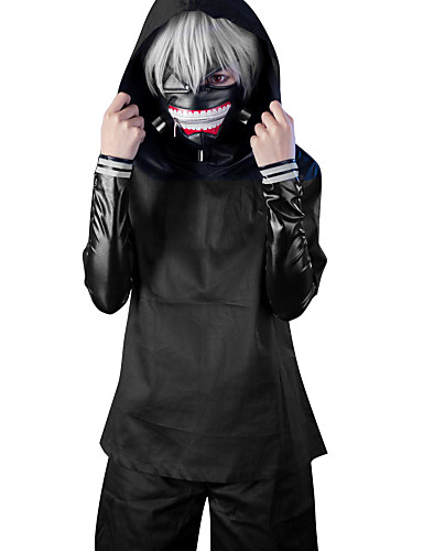 cheap Anime Costumes-Cosplay Suits Inspired by Tokyo Ghoul Ken Kaneki Anime Cosplay Accessories Coat / Top / Pants PU Leather Men's / Women's New / Hot 855