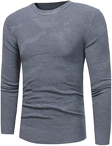 Men's Plus Size Pullover - Solid Round Neck