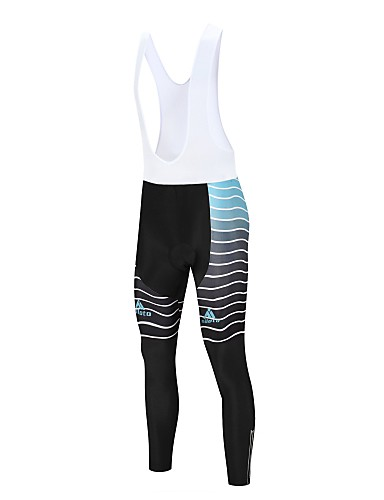 cheap Cycling Clothing-Miloto Men's Cycling Bib Tights Bike Bib Tights Pants Sports Lycra Winter White / Black Road Bike Cycling Clothing Apparel Relaxed Fit Bike Wear / Stretchy