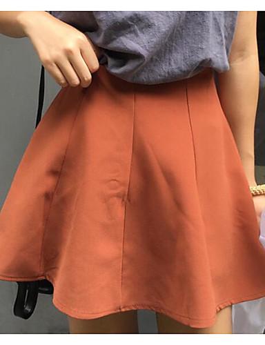 Damen Ausgehen Über dem Knie Röcke einfarbig Frühling Winter