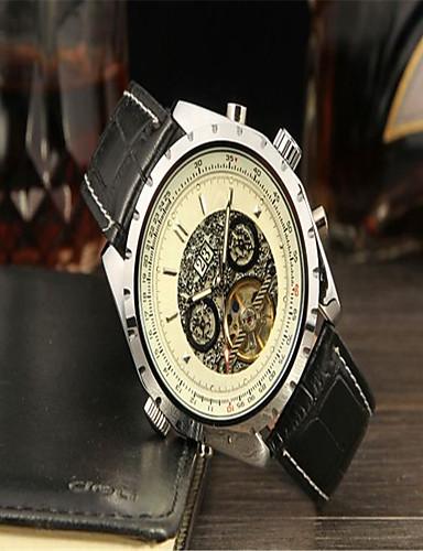 ee5e3172520 Jaragar Pánské Náramkové hodinky Kalendář   Cool Kůže Kapela Na běžné  nošení   Módní Černá