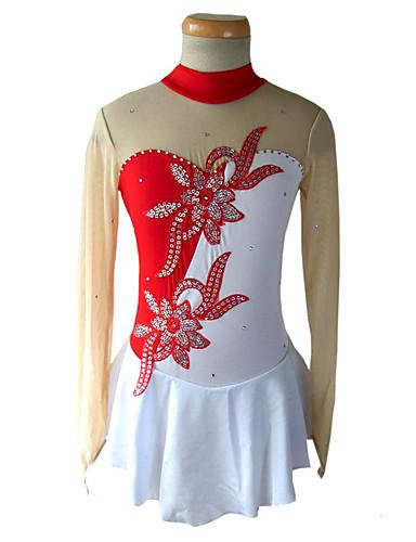 Sukienka łyżwiarska Damskie / Dla dziewczynek Bruslení Suknie Green / Red and White / Black / red Spandeks Stras / Cekin Elastyczny / a