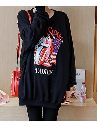 Damen Pullover Sport Lässig/Alltäglich Solide Polyester