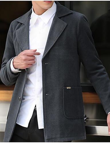 Herrn - Solide Einfach Freizeit Mantel