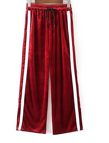 Damen Hose Mikro-elastisch Breites Bein Hose,Baumwolle Solide