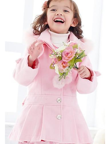 Trencz Dla dziewczynek Jendolity kolor Blushing Pink