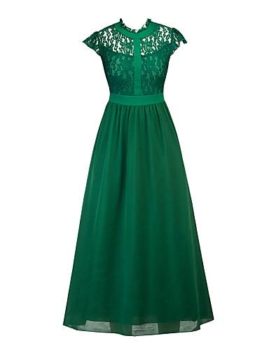 Damskie Linia A Sukienka swingowa Sukienka - Jendolity kolor, Koronka Golf