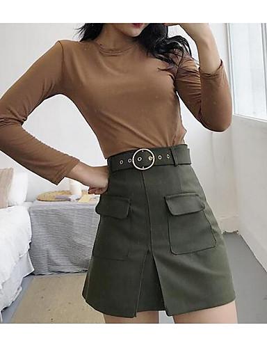 Damen Street Schick Lässig/Alltäglich Mini Röcke einfarbig Herbst