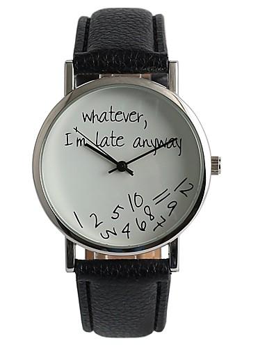 Męskie Damskie Kwarcowy Zegarek na nadgarstek Japoński Na codzień PU Pasmo Na co dzień Modny Czarny