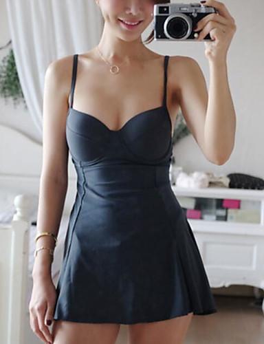 Damen Grün Schwarz Bikinis Bademode - Solide M L XL