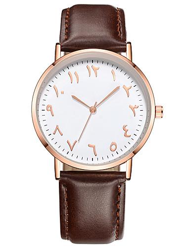 Męskie Damskie Kwarcowy Zegarek na nadgarstek Chiński Chronograf Skóra Pasmo Na co dzień Elegancki Modny Święta Bożego Narodzenia