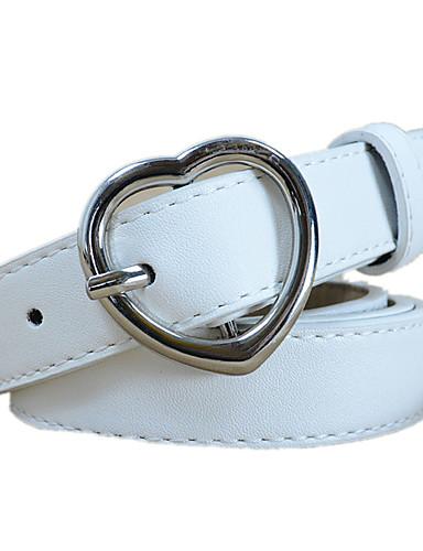 billige Trendy belter-Dame Aktiv / Grunnleggende Bredt belte Ensfarget / PU