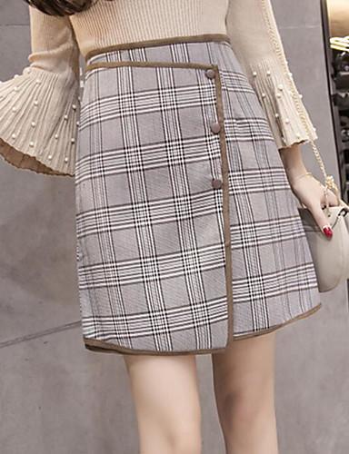 Damen Urlaub Über dem Knie Röcke Muster Winter Frühling