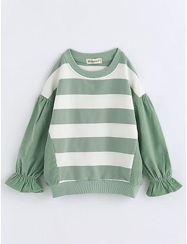 Bluzka Bawełna Dla dziewczynek Prążki Jesień Długi rękaw Clover