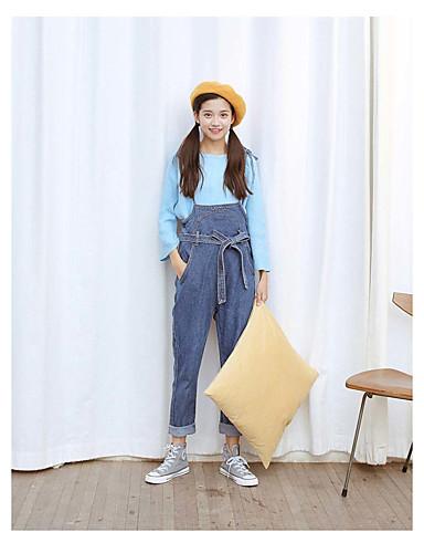 Damskie Rajstopy szelkach Spodnie - Modern Style, Jendolity kolor