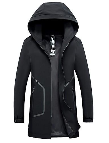 Herrn - Solide Beiläufig / sportlich Lang Trench Coat