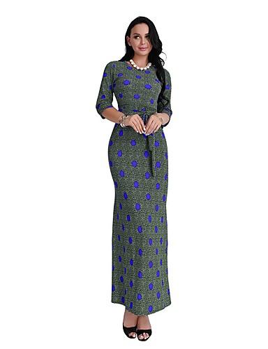 Damen Hülle Kleid Punkt Maxi