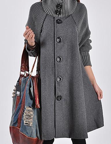 Damen Solide Einfach Chinoiserie Lässig/Alltäglich Mantel Winter Lang Andere