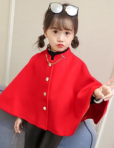 Mädchen Anzug & Blazer einfarbig Polyester Herbst Winter Langarm