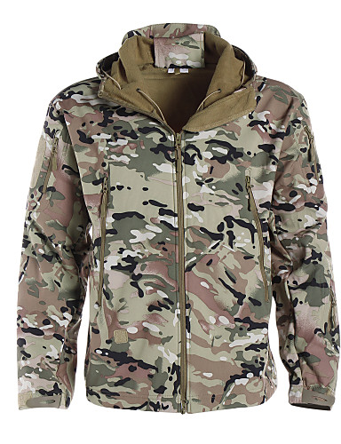 Men's Women's Unisex Camo / Camouflage Camouflage Hunting Jacket Outdoor Waterproof Breathable Ultraviolet Resistant Dust Proof Spring Summer Fall Jacket ...