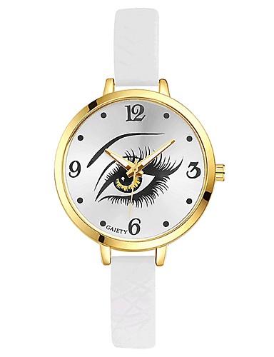 Damskie Kwarcowy Zegarek na nadgarstek Chiński Kompas Żel krzemionkowy Pasmo Na co dzień Kolorowy Elegancki Czarny Biały Niebieski