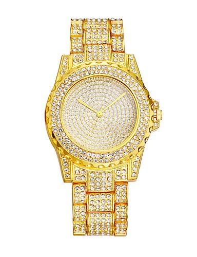 Damskie Kwarcowy Zegarek na nadgarstek Chiński Hollow Grawerowanie sztuczna Diament Metal Alloy Pasmo Luksusowy Na co dzień Do sukni /