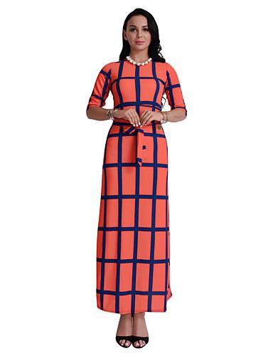 Damen Hülle Kleid Verziert Maxi