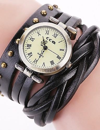 Męskie Damskie Kwarcowy Zegarek na nadgarstek Chiński Chronograf Wodoszczelny Skóra naturalna Pasmo Vintage Na co dzień Unikalny twórczy