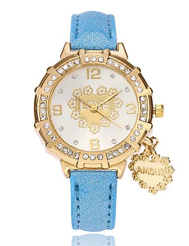 Damskie Kwarcowy Zegarek na nadgarstek Chiński PU Pasmo Heart Shape Na co dzień Modny Czarny Biały Niebieski Czerwony Złoty Purpurowy