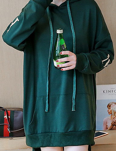 Damen Kapuzenshirt Sport Lässig/Alltäglich Solide Polyester