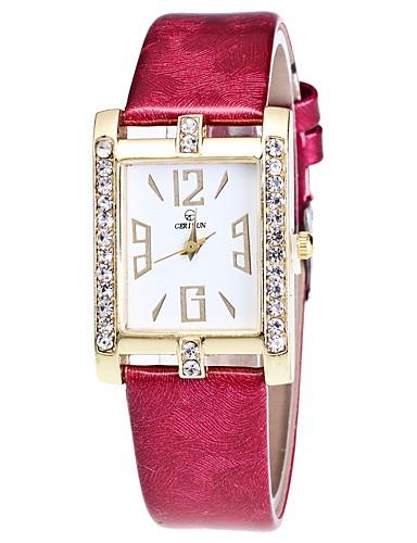 Damskie Kwarcowy Zegarek na nadgarstek Chiński sztuczna Diament PU Pasmo Na co dzień Czarny Biały Niebieski Czerwony Brązowy Różowy