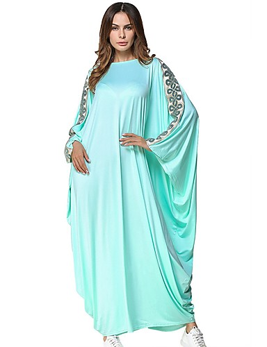 b8deb6930 Women's Daily Maxi Tunic Dress - Solid Colored Light Green One-Size /  Oversized