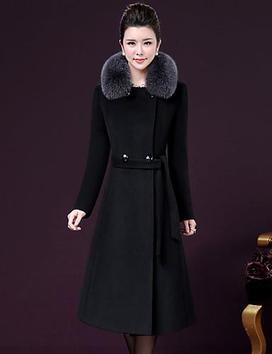 2f092e6a667d Γυναικεία Εξόδου Φθινόπωρο   Χειμώνας Μεγάλα Μεγέθη Μάξι Παλτό