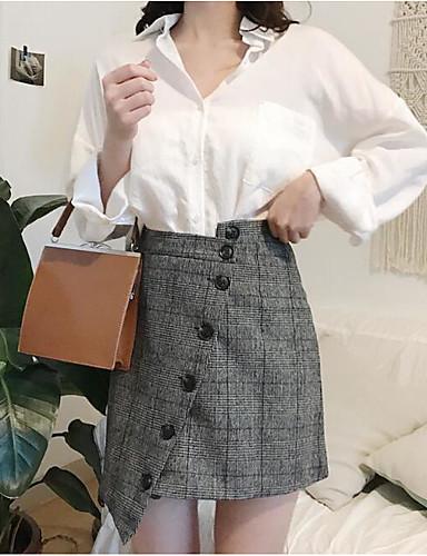 Damen Niedlich Lässig/Alltäglich Mini Röcke Geometrisch Ganzjährig Herbst